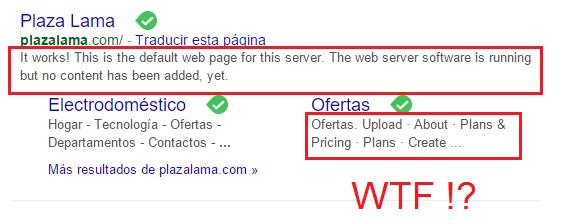 Mal SEO de Plaza Lama