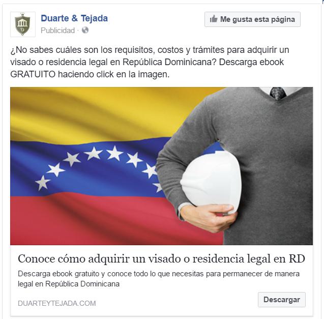Anuncio para expatriados venezolanos